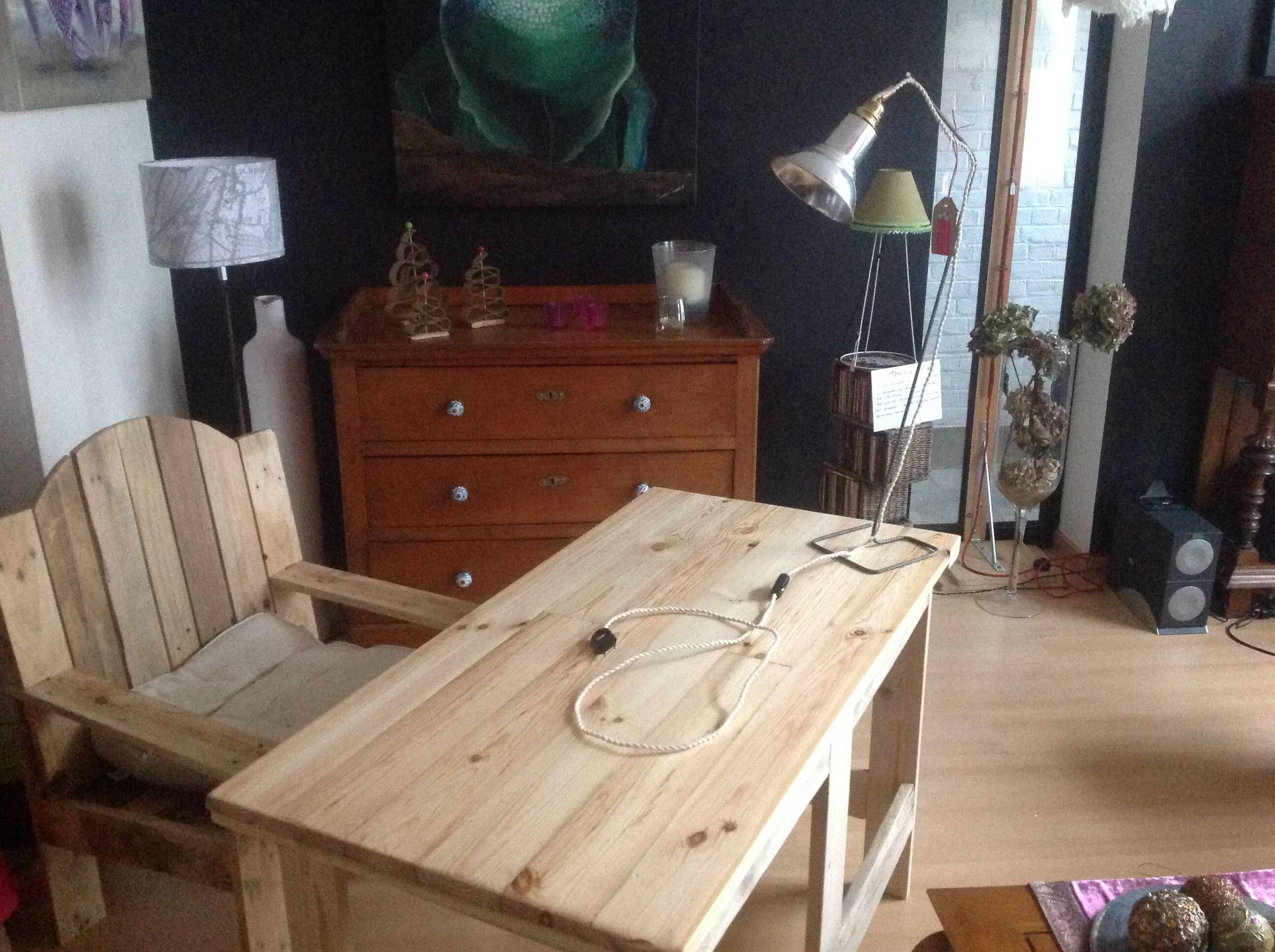 Bureau fauteuil en palette pallet desk chair pallet