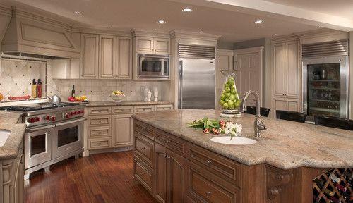 interesting kitchen granite countertops | Vyara (aka Indian Parana) granite countertops in this ...
