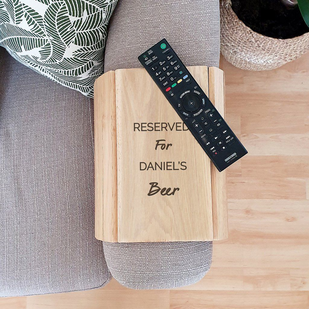 Personalised Wooden Sofa Tray Any Message Wooden Sofa New Home Gifts Home Gifts