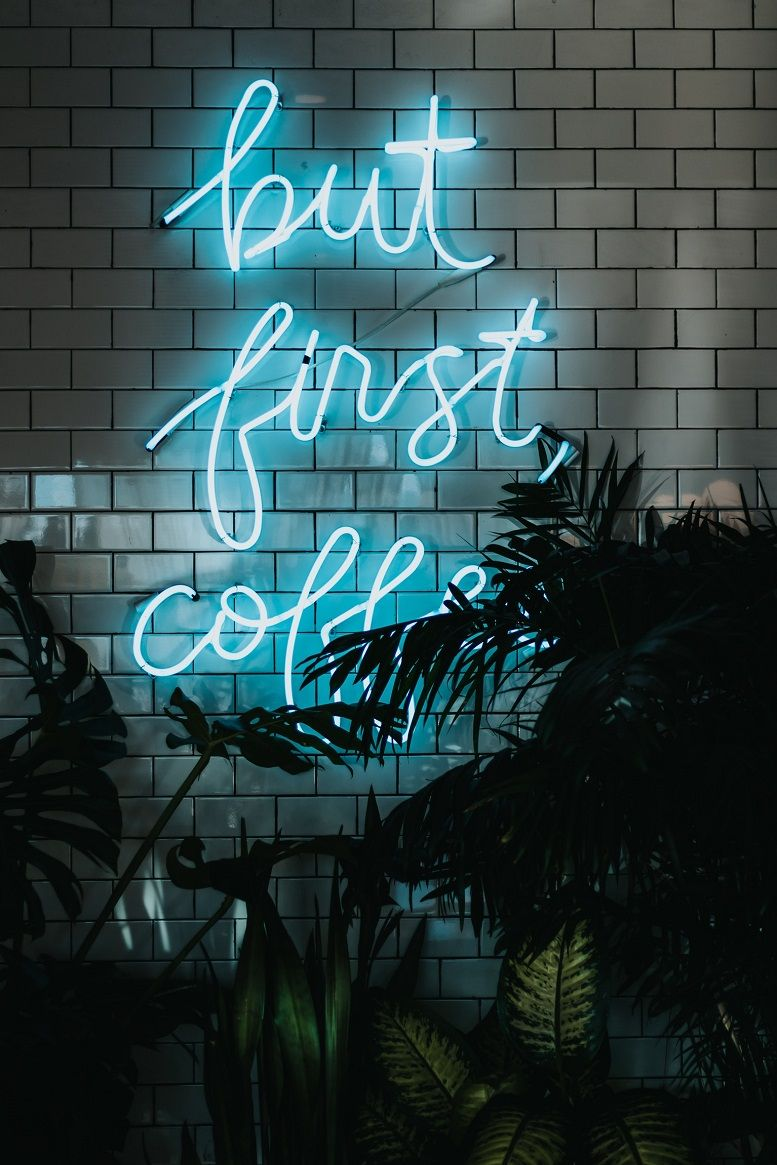 Awesome neon lights iPhone wallpaper
