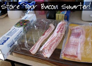 A Smarter Way To Store Bacon Bacon Food Food Hacks