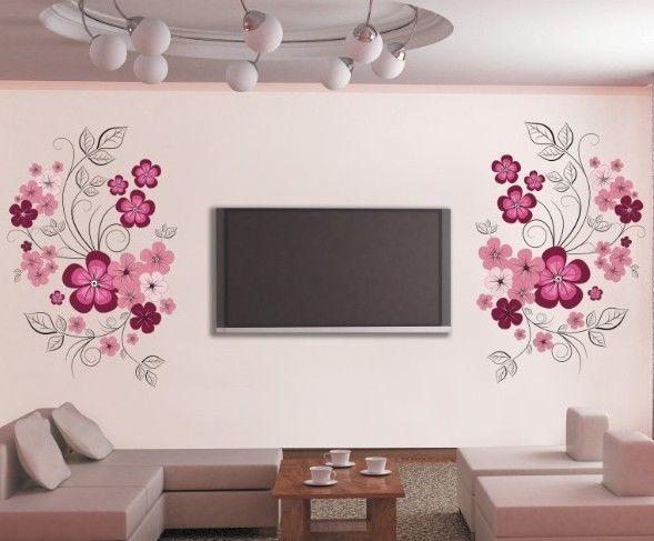 Wohnzimmer Blumen ~ Die besten blumen wandtattoos ideen auf
