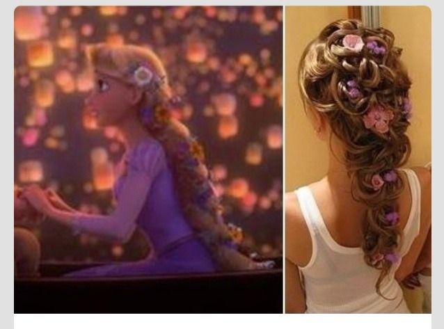Disney S Tangled Inspired Wedding Hair Styles Wedding Hairstyles Rapunzel Hair Disney Hairstyles