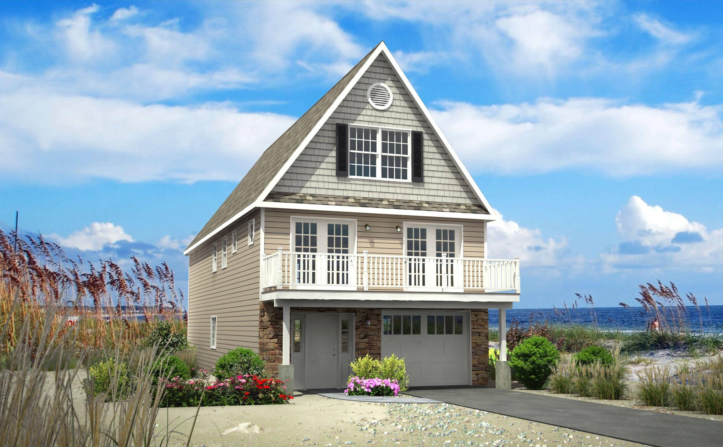 Rendering Of Model Home On Long Beach Island The Builder Is Phoenix Industries