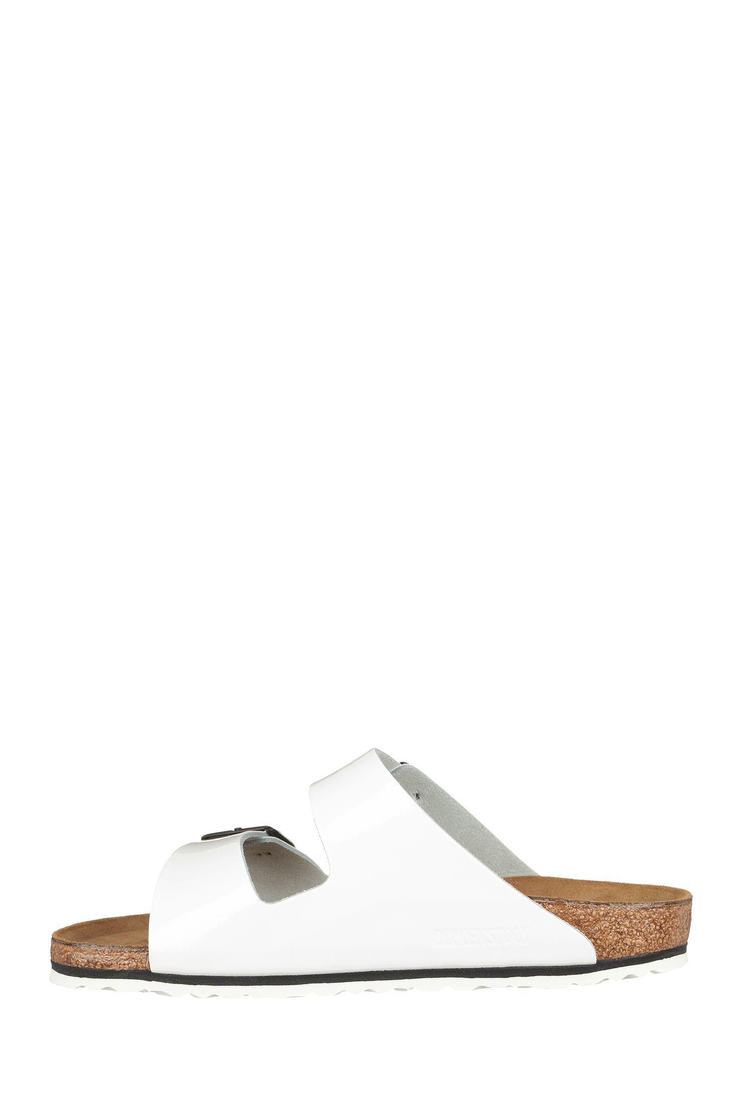 002d267648ac3 Nu-pieds cuir blancs vernis Arizona | Val habits | Cuir blanc ...