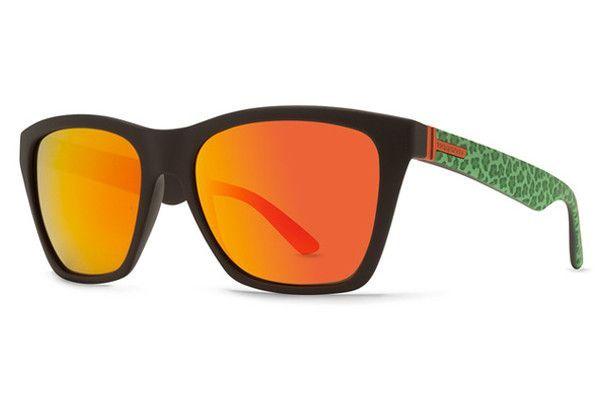 VonZipper - Booker Party Animals Lime PAL Sunglasses, Lunar Chrome Lenses
