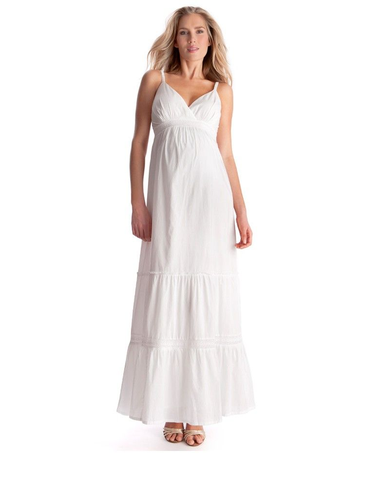 ee40d9adc7653 Summer white maternity maxi dress >>> www.seraphine.com | maternity style |  maternity fashion | baby on board | pregnancy fashion | mom to be | preggo  ...