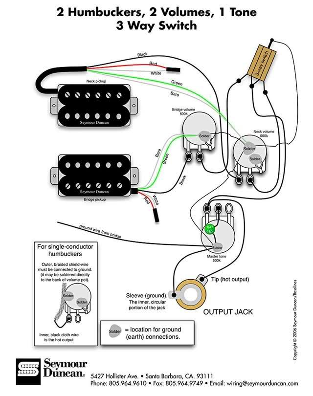 wiring diagram for dean ml 2 tones 1 volume