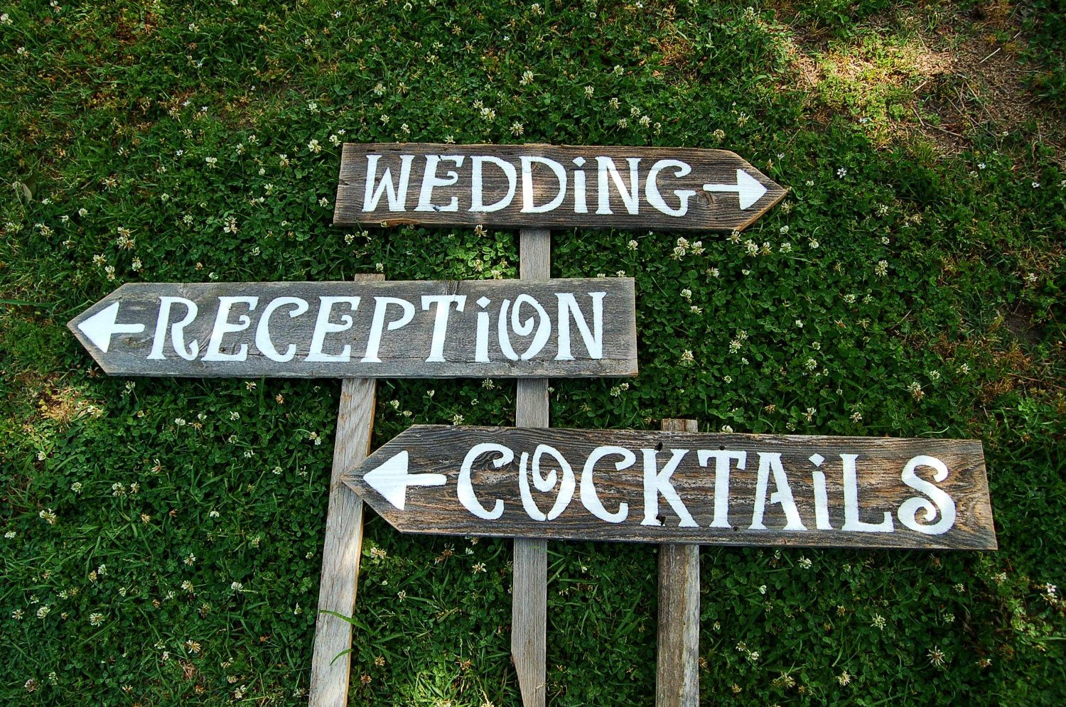 Wedding Signs IN BRIDES MAGAZINE August 2012 Pg. 213 Hand painted ...