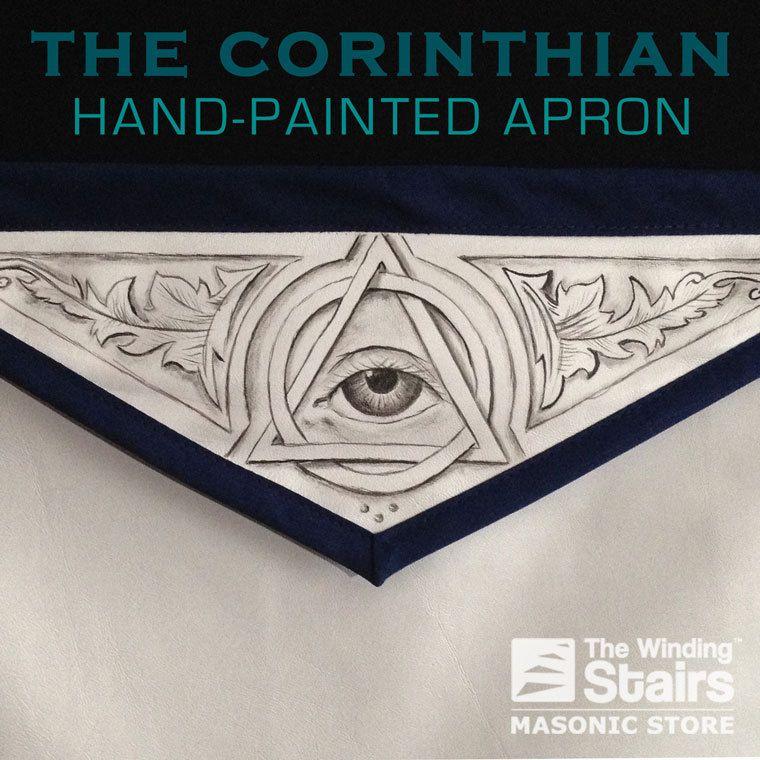 The Corinthian | Hand Painted #Masonic Apron - The Winding