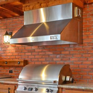 outdoor kitchen exhaust hoods pub table sets vent improved air flow home grill area
