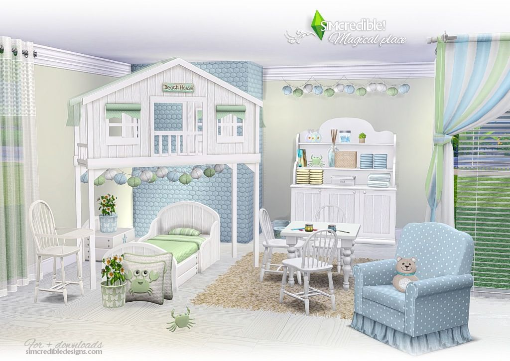 Lana Cc Finds Magical Place Kids Room By Simcredible