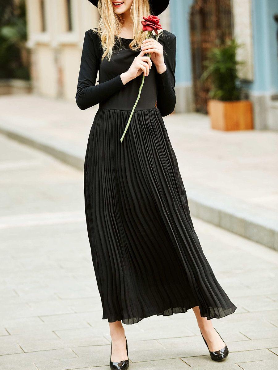 Adorewe stylewe maxi dresses jianshan black two piece cutout crew
