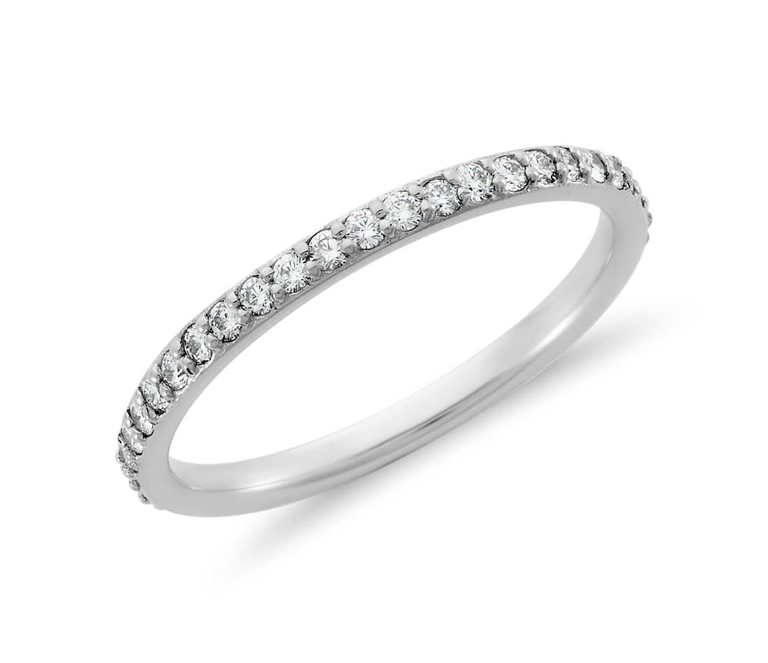 nl womens diamond in gold eternity bands micropave pave jewelry white with trio wg band wedding