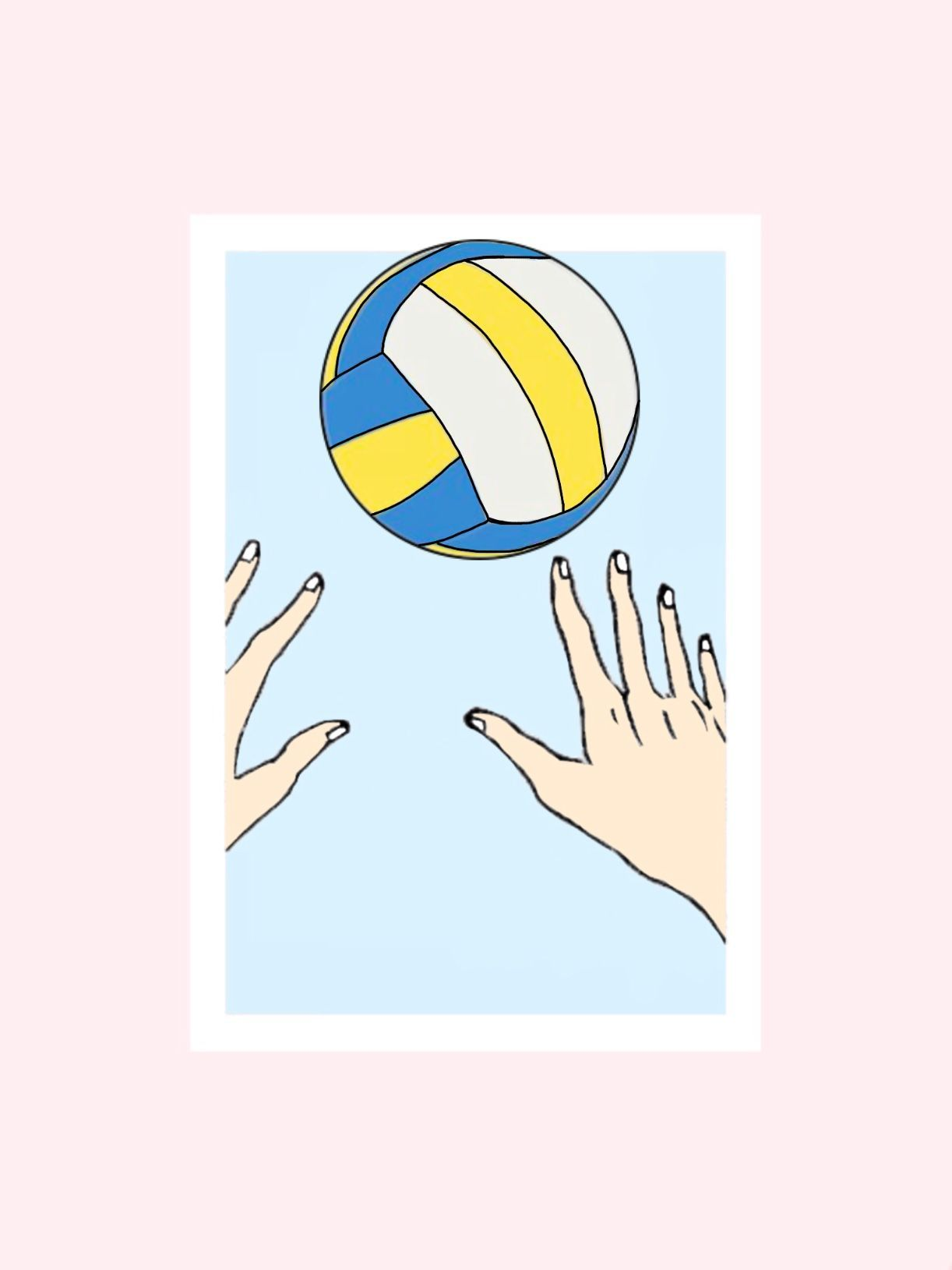 Volleyball Pastel Wallpaper Aesthetic Pastel Pink Haikyuu Pastel Volleyball Wallpaper Blue Wallpaper Iphone Pastel Wallpaper