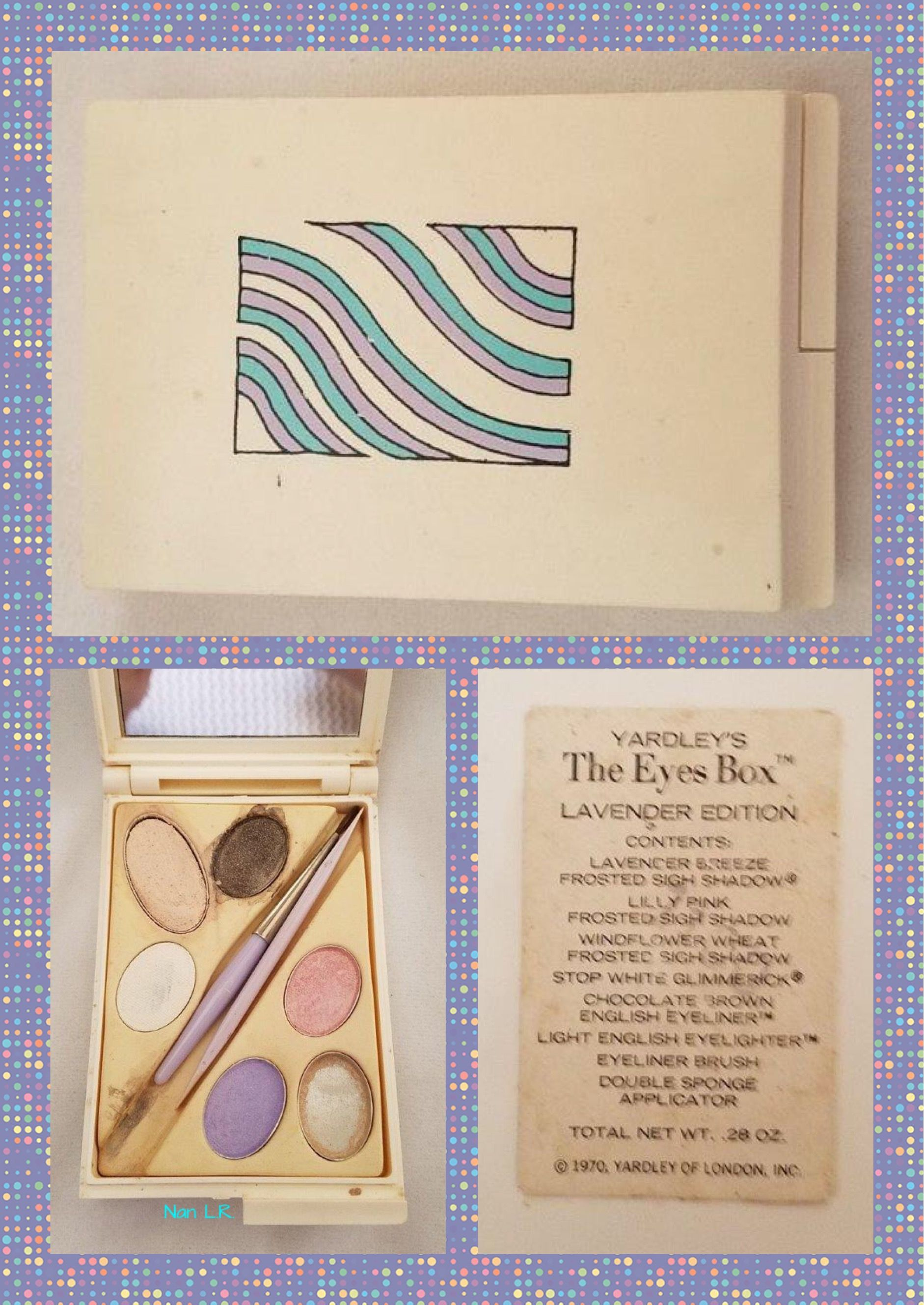 1970 Yardley The Eyes Box LAVENDER Edition. Sold for 26