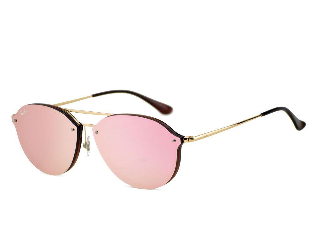 fe760c54b64 Ray-Ban RB4292N Blaze Double 6327 E4 Brown GoldFrame Pink Mirror Sunglasses  62mm
