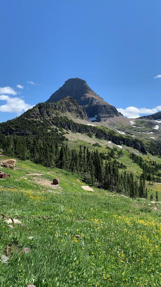 Hidden Lake Trail In Montana