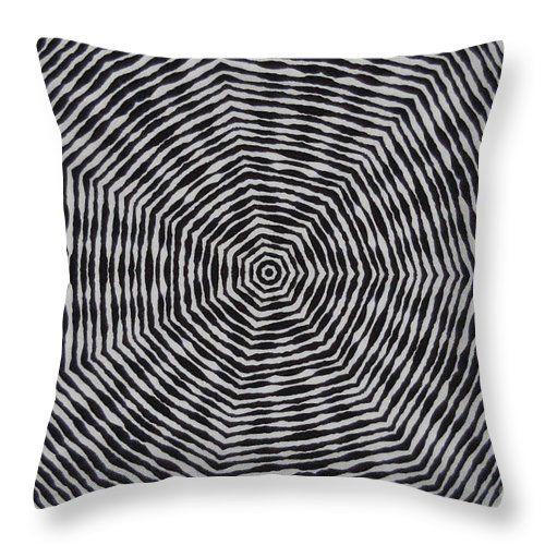 Contemporary Throw Pillow featuring the digital art Kaleidoscope Flower 866 by Aileen Griffin