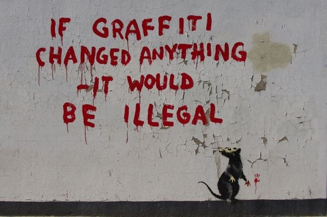 New Banksy In London: If Graffiti Changed Anything – It Would Be Illegal