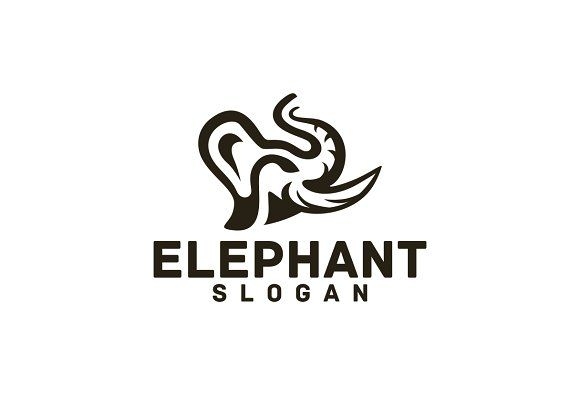 Elephant Templates AI And EPS Illustrator 10 300PPICMYK100 Scalable Vector FilesEasy To Edit Color Text By BekBlack