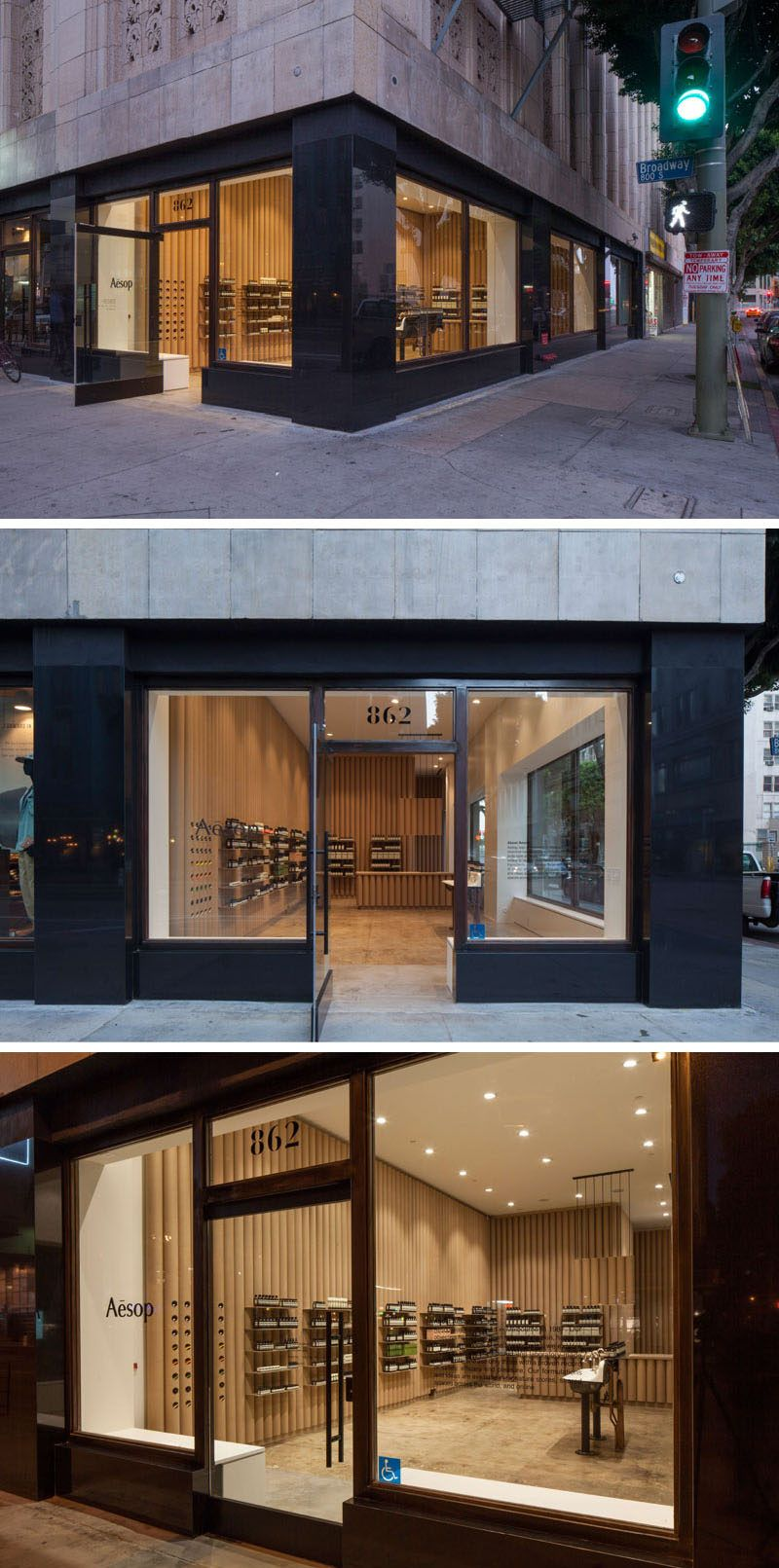 Cardboard Tubes Have Been Used Throughout This Aesop Store In Downtown LA Interior DesignArchitecture
