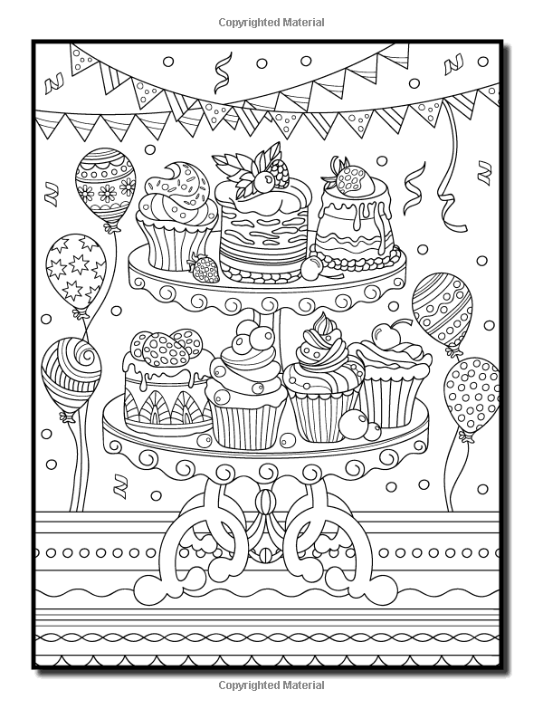 Amazon.com: Delicious Desserts: An Adult Coloring Book ...