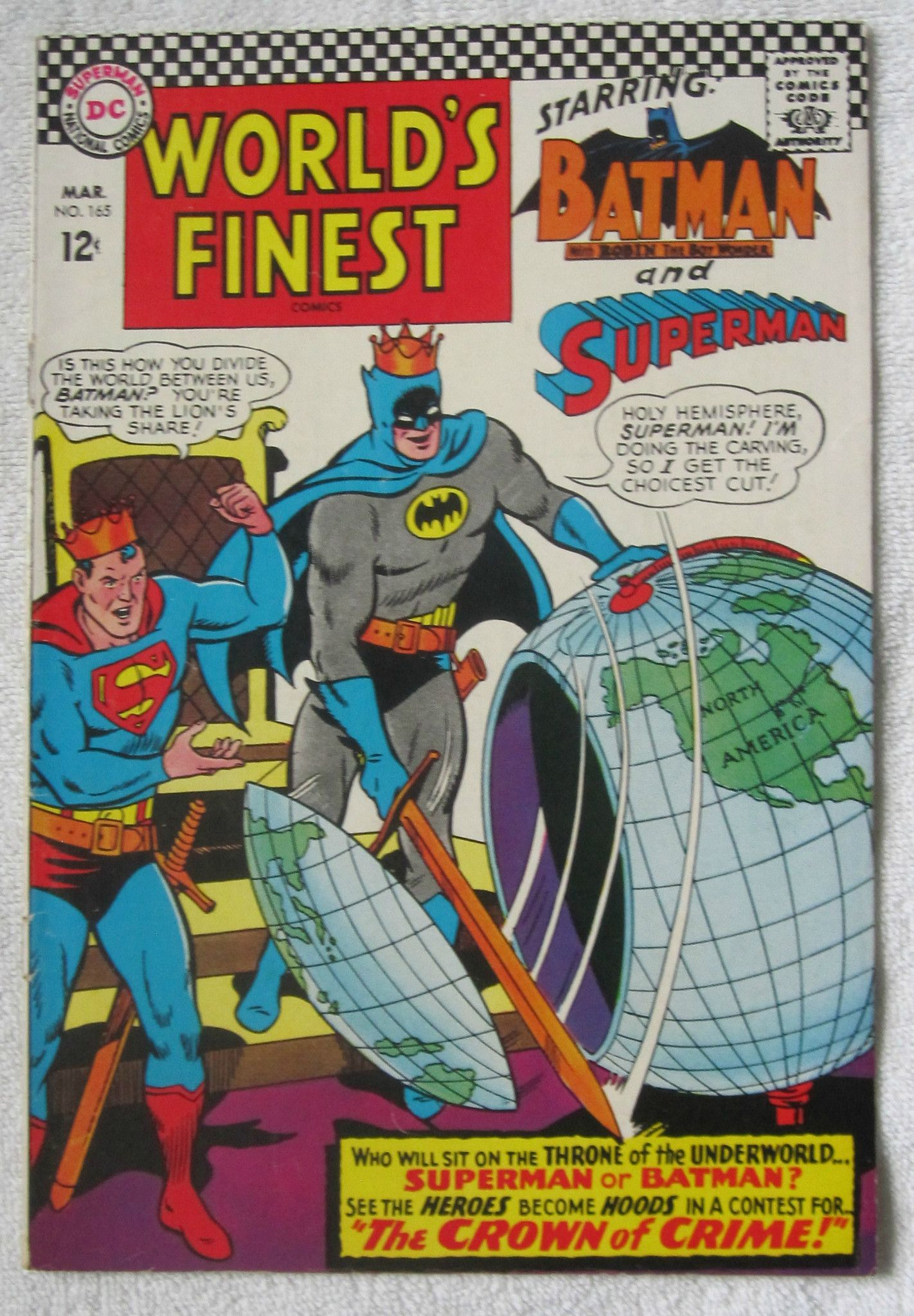 Worldu0027s Finest Comics #165 (Mar 1967, DC) VG/F 5.0