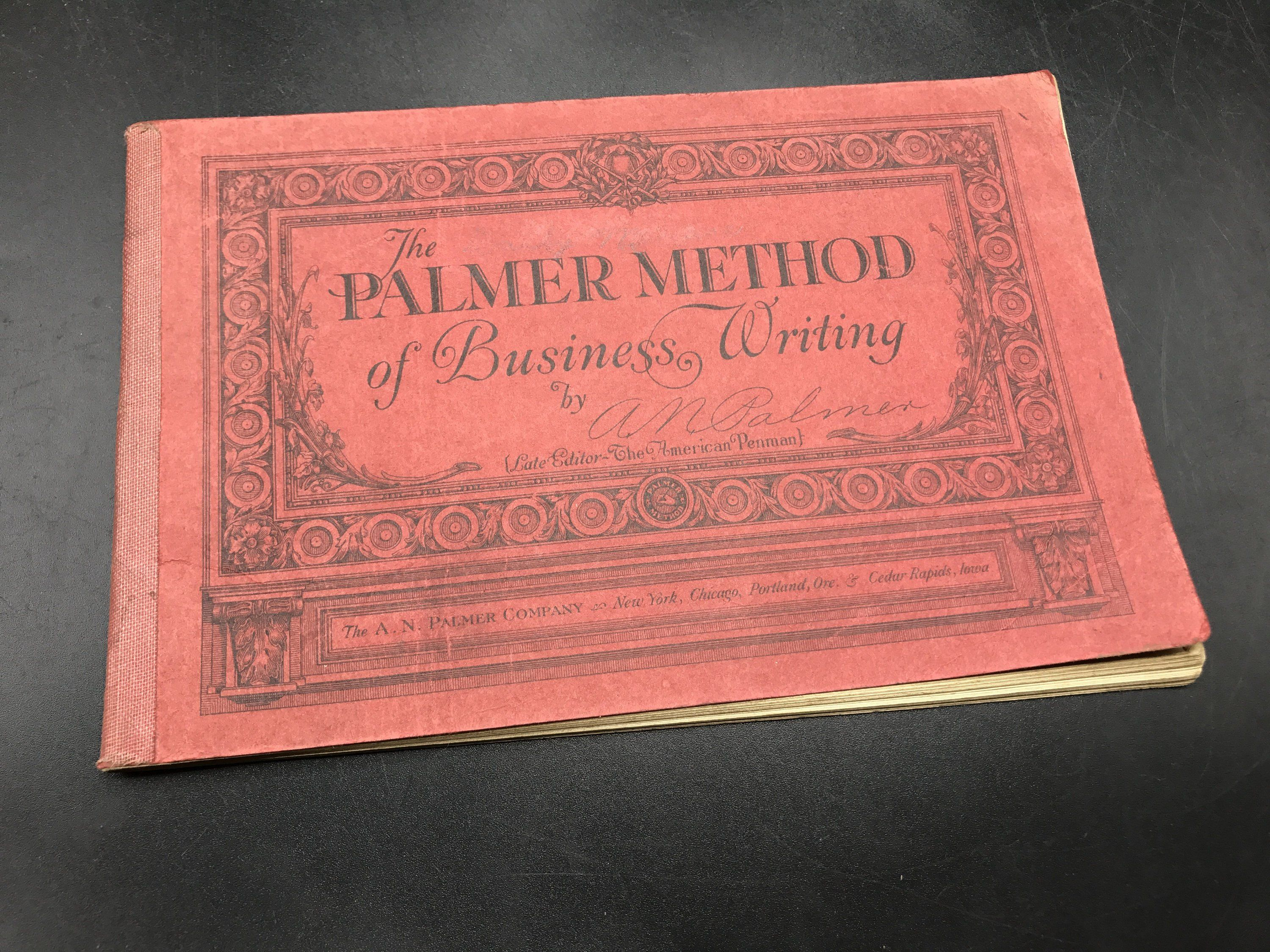 The Palmer Method Of Business Writing By A N Palmer