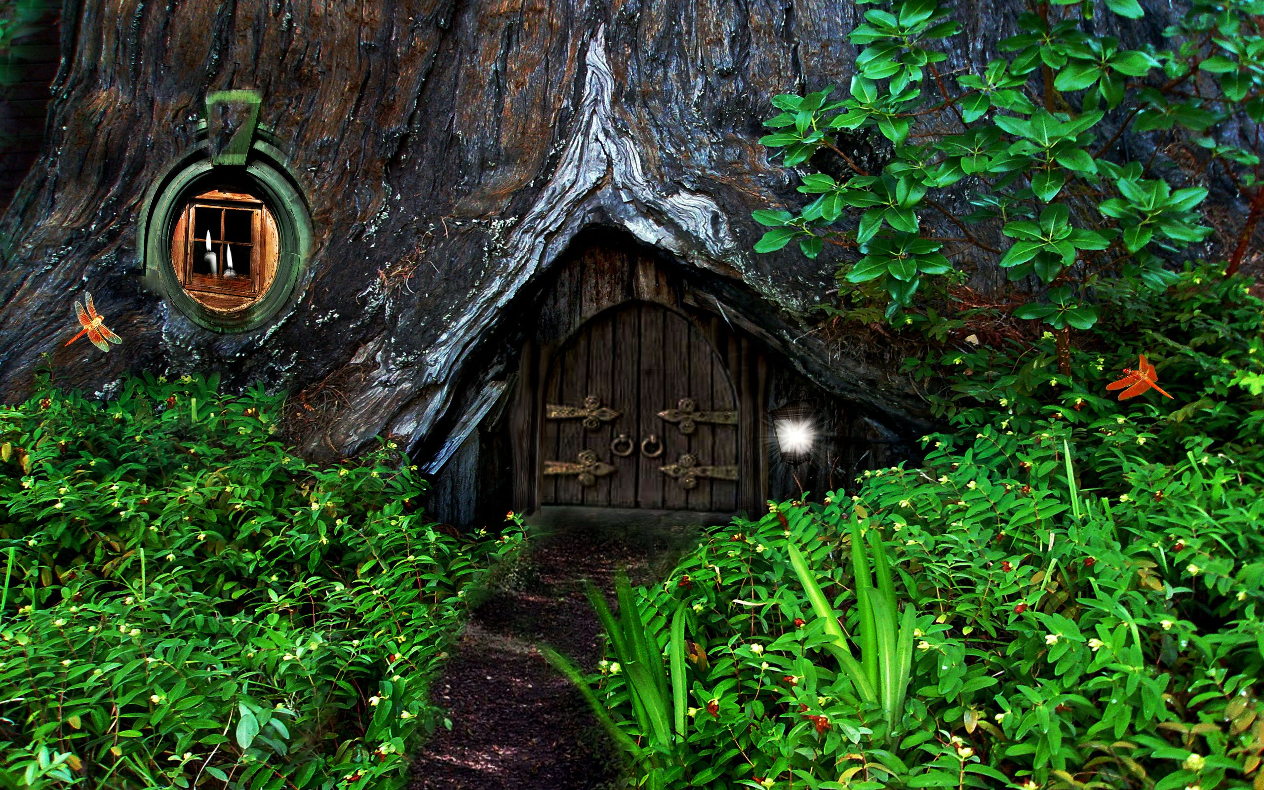 Fantasy Homes hobbit fantasy forest trees house home