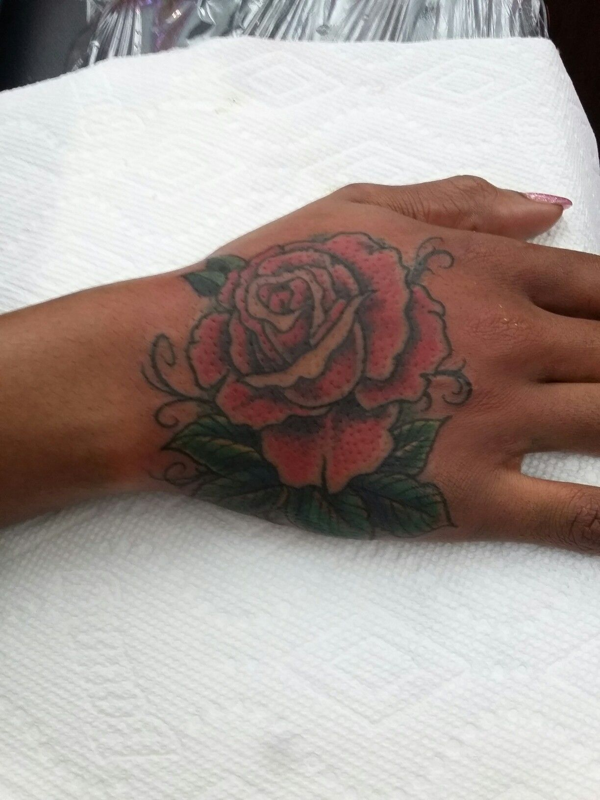 Rose Hand Tattoo Cover Up Of A Name Cover Tattoo Rose Hand
