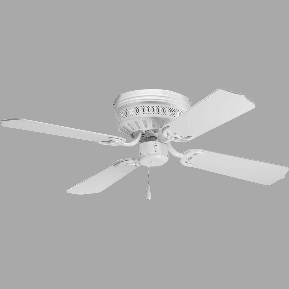 Progress Lighting Airpro Hugger 42 In Indoor White Ceiling Fan P2524 30 The Home Depot White Ceiling Fan Ceiling Fan Ceiling Fan With Light Progress lighting ceiling fans