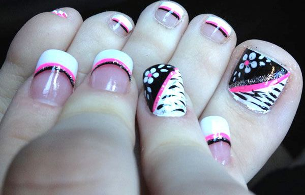 Diseños Para Uñas De Los Pies Fashion Pinterest Nails Toe