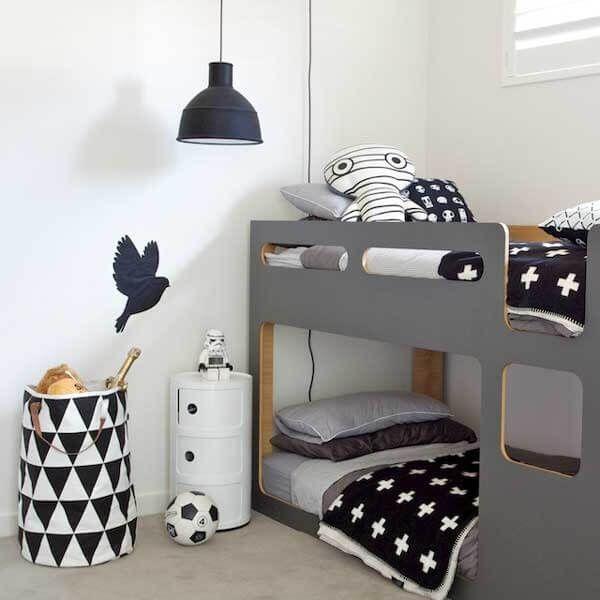 graue farbe kinderzimmer dekoration  oğlan çocuğu odaları