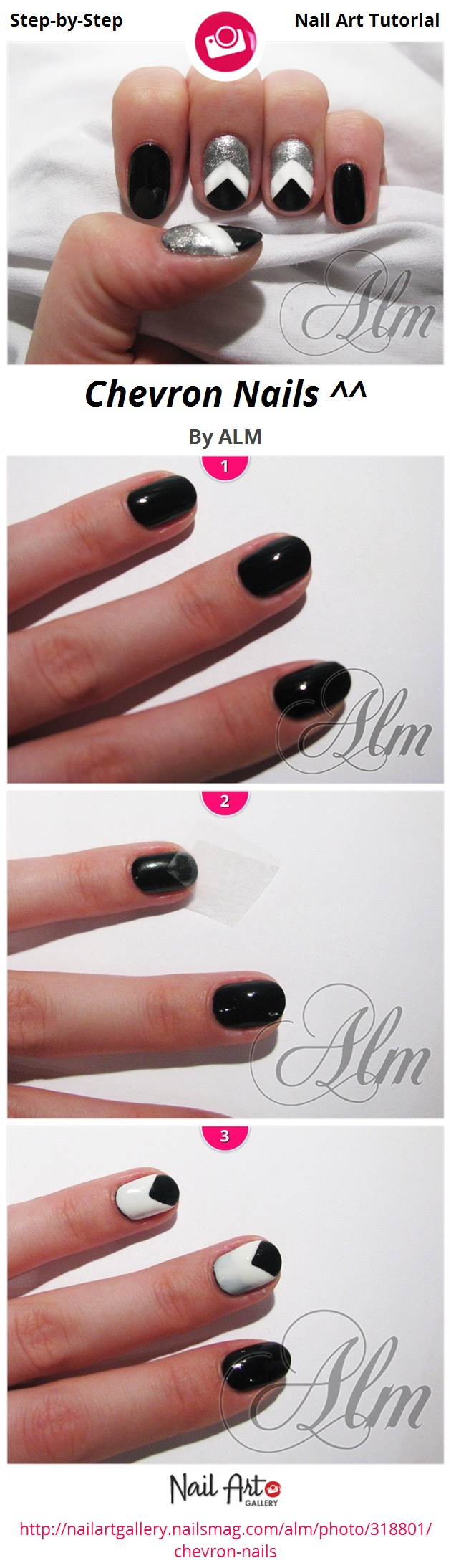 Chevron Nails ^^ by ALM - Nail Art Gallery Step-by-Step Tutorials ...