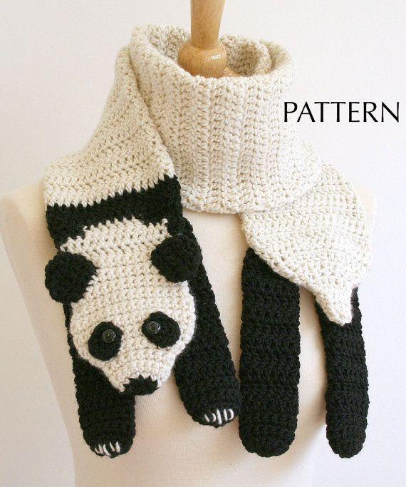 panda bear scarf pattern $6 | Crocheting ideas and more ...