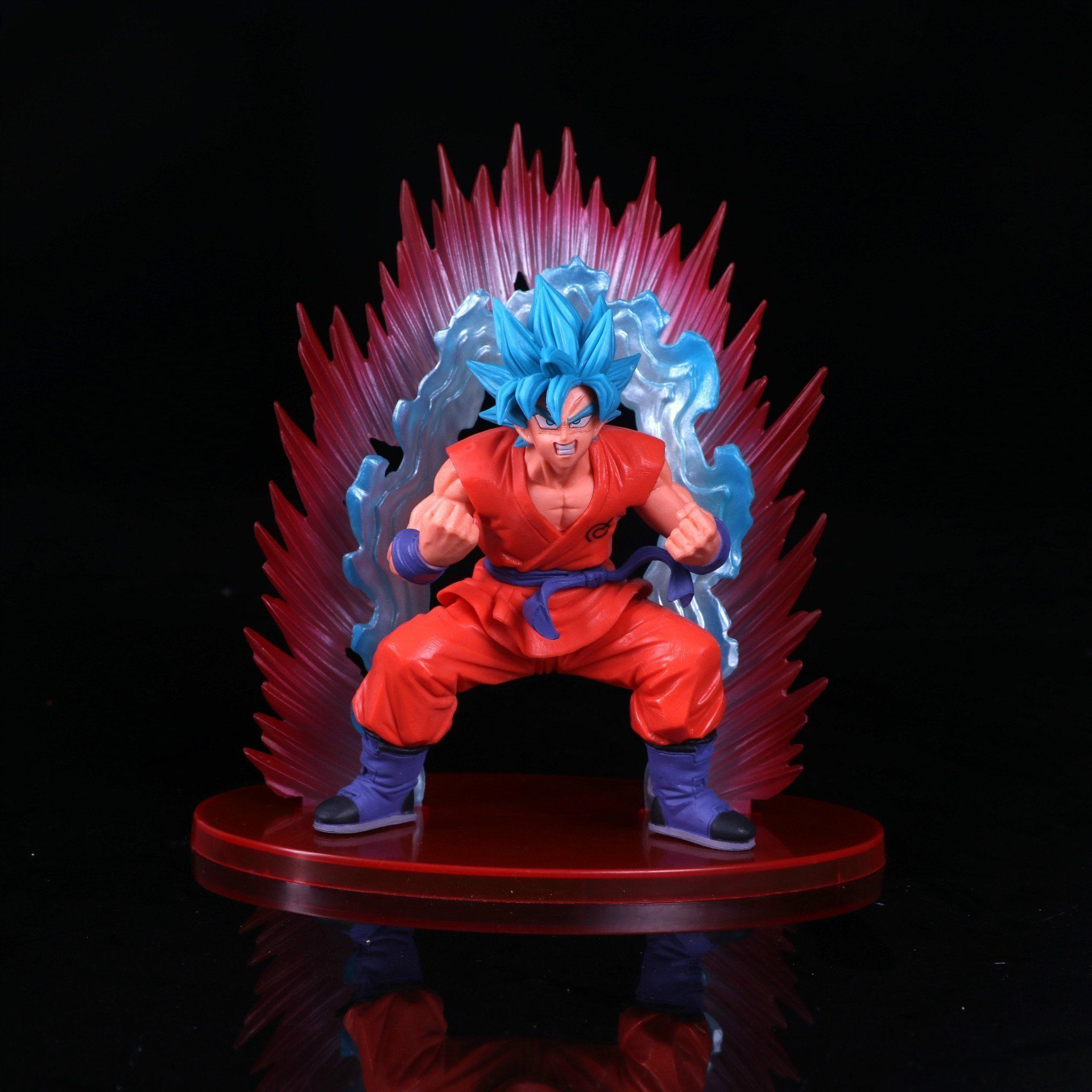 Dragon Ball Z Figure Super Saiyan God Kaiouken Goku Blue Hair Statue Toy Comic Anime Act Anime Dragon Ball Super Action Figures Hot Toys Dragon Ball Super