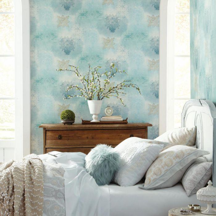Prisha Patchwork Sure Strip Wallpaper York Wallcoverings Wallpaper Designs For Walls Peel And Stick Wallpaper Room Visualizer