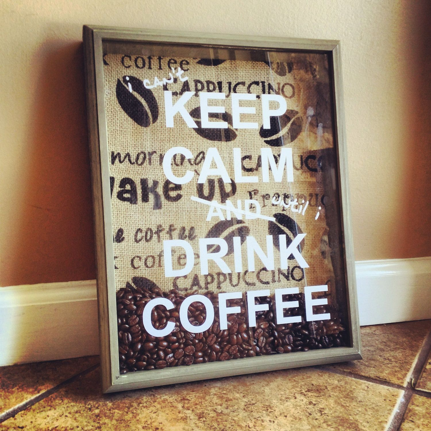 Keep calm and drink coffee ready to ship by smallbatchcreations, $50.00