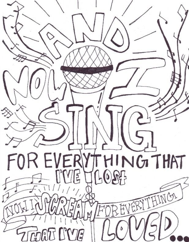 21+ Panic at the disco coloring page HD