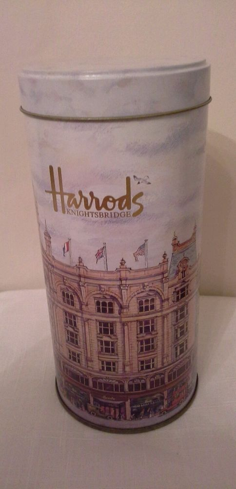 Harrods Knightsbridge finest malted biscuits tin  EMPTY , Collectable
