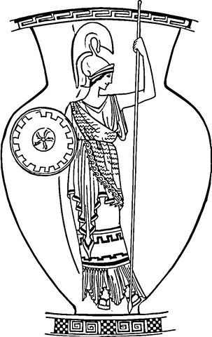 Old Roman Vase Coloring Page From Italy Category Select From