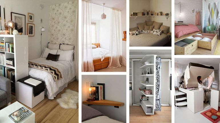 20 Smart Space Saving Ideas For Your Tiny Bedroom Small Space Bedroom Small Bedroom Storage Small Bedroom Designs