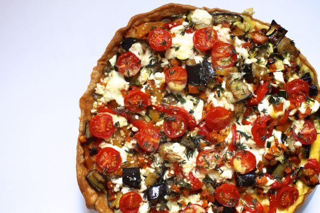 Yotam Ottolenghi 'very full tart,' via Bitten.  Great vegetarian entree. super lekker!