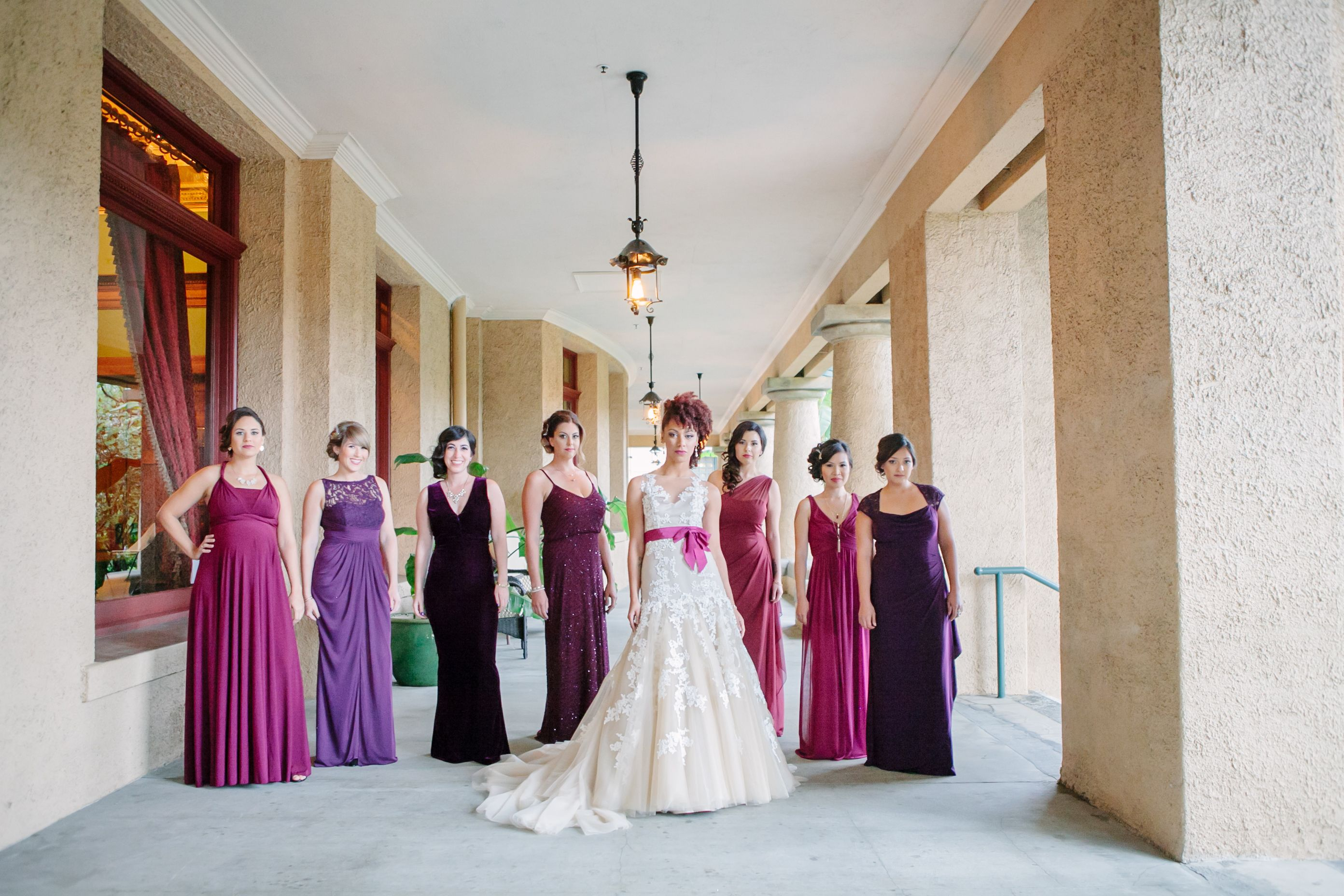 Perfectly mismatched bridesmaids same color family different perfectly mismatched bridesmaids same color family different styles picked their own and were much ombrellifo Images