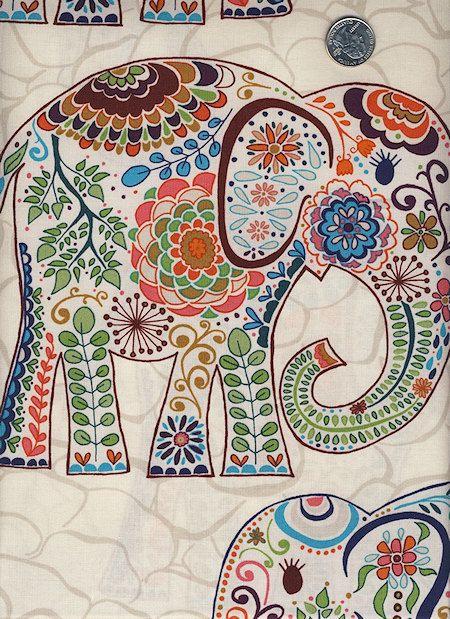 1 Yard Valori Wells Karavan Marrakech Elephants Bohemian