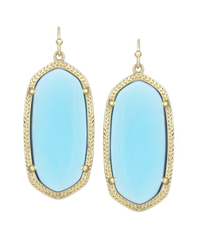 Elle Earrings in Clear London Blue Kendra Scott Fashion Designer