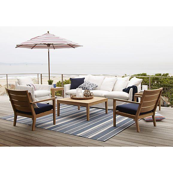 Regatta Lounge Chair With Sunbrella Indigo Cushion In Regatta