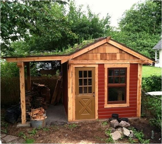 Gallery Sustainable Northwest Wood Outdoor Storage Sheds Shed Green Roof