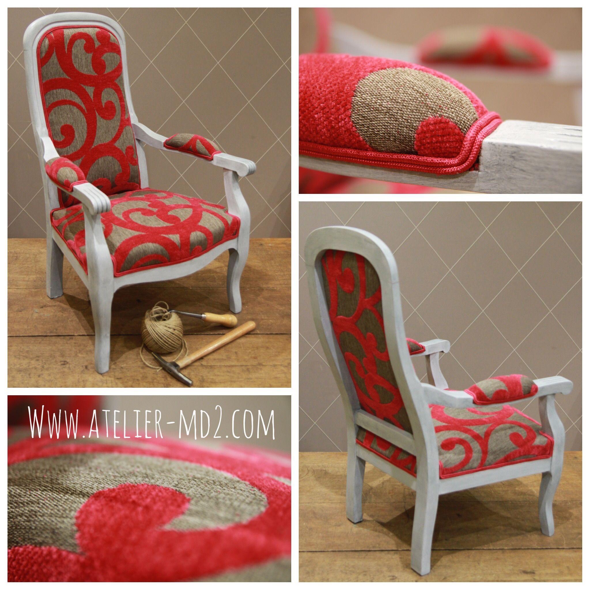 Original fauteuil Voltaire taille enfant Fauteuil